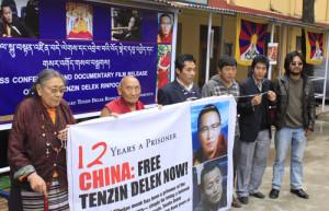 Dharamsala Tibetans demand Trulku Tenzin Delek's release