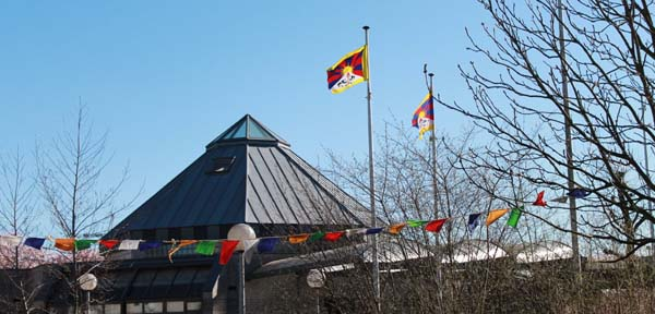 Tibetan national flag raised at Belgian school