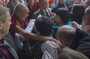 Dalai Lama arrives in Riga, Latvia