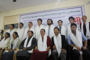 Newly elected executive members of Gu-Ch-Sum Movement of Tibet.