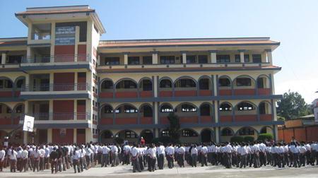 Students gathering for morning assembly. (Photo: srongtsen.edu.np)
