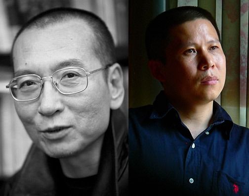 Liu Xiaobo (left) and Xu Zhiyong (right). Photo: NED