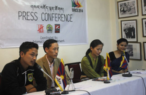 Representatives of the Dharamsala-based NGOs during the press conference.