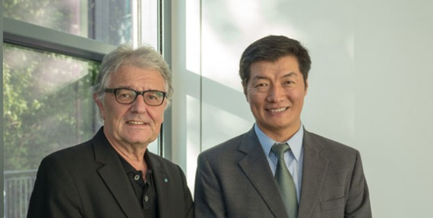 Sikyong Dr Lobsang Sangay with Mr Christoph Strässer, Human Rights Commissioner of the German Federal Government, in Hamburg, Germany, on 25 August 2014. Photo: Tibet.net