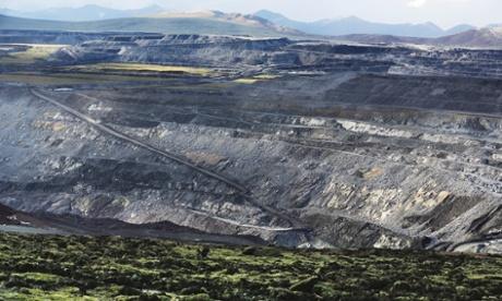 The opencast coal mine in Muli, Qinghai province, run by the Kingho Energy Group. Photograph: Wu Haitao/Greenpeace