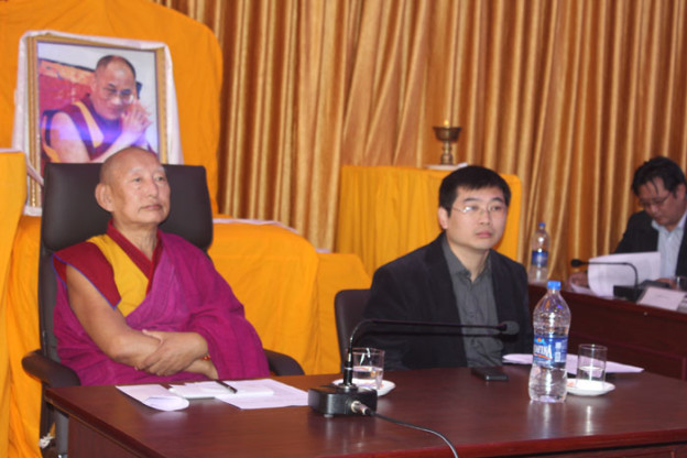 His Eminence Kirti Rinpoche (L) and Chang Ping (R).
