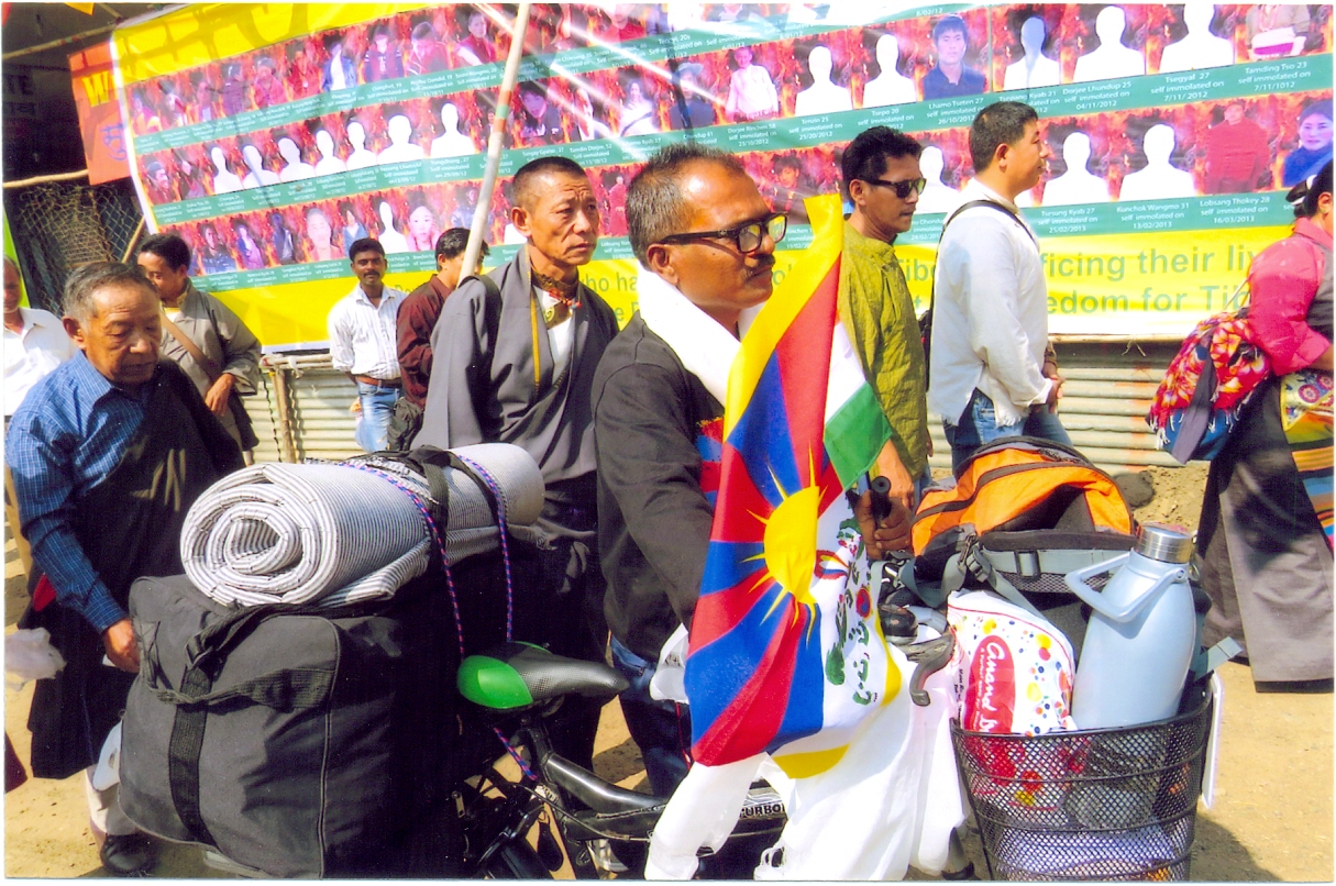 Long time Indian supporter embarks on solitary cycle campaign for Tibet cause
