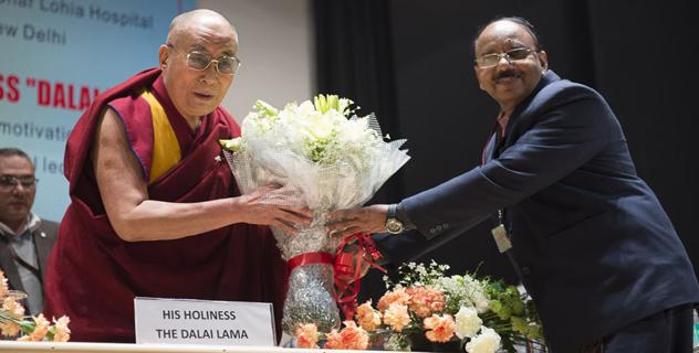 His Holiness the Dalai Lama Speaks to the Medical Staff at Dr. Ram Manohar Lohia Hospital, New Delhi