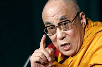 (File photo) The Dalai Lama, who announced that he was stepping down as political leader of the Tibetan govermment, speaks during a news conference in New York.