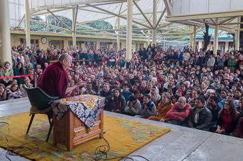 His Holiness the Dalai Lama Meets Foreign Visitors to Dharamsala