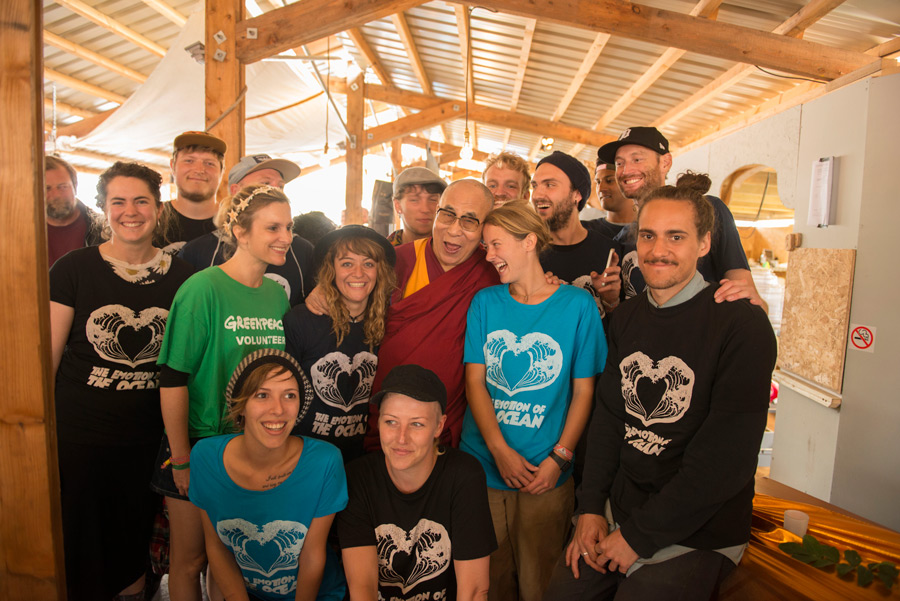 His Holiness the Dalai Lama at the Glastonbury Festival