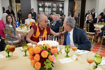 His Holiness the Dalai Lama is a Guest at the George W Bush Presidential Center and Southern Methodist University