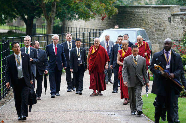 The Dalai Lama arrives in Oxford at the start of a 10-day visit to the UK  Photo: Reuters