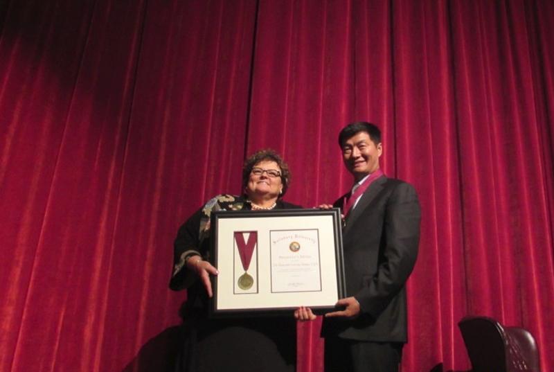 Salisbury University awards Presidential Medal to Sikyong Sangay