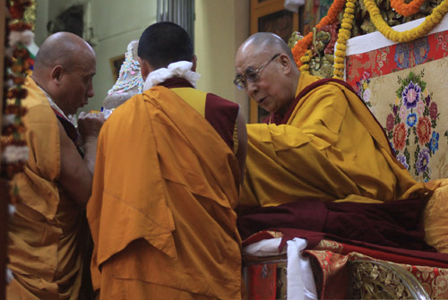 Tibetans pray for His Holiness' long life in Dharamsala