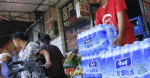 China's bottled-water industry is sourcing its glacier water mainly from the eastern Himalayas, where accelerated melting of snow and ice fields is already alarming the global scientific community. Photo: Bloomberg