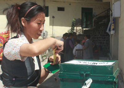 Tibetans in Dharamsala vote to elect new Settlement Officer