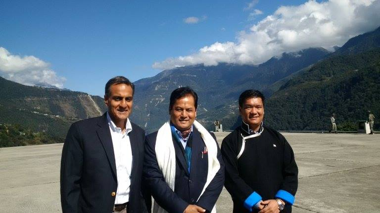 US ambassador with Assam Chief Minister Sarbananda Sonowal and Arunachal Chief Minister Pema Khandu. Image source - Richard verma twitter