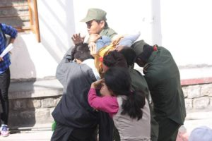 Skit being performed on the 11th Panchen Lama's arrest.