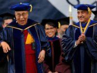 Image - Reuters  The Dalai Lama and Pradeep K Khosla, UC San Diego Chancellor.