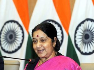 India's External Affairs Minister, Sushma Swaraj. Image: Times of India