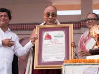 His Holiness the Dalai Lama conferred with 10th KISS Humanitarian Award