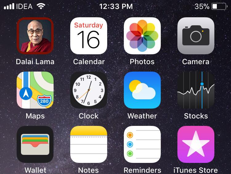 His Holiness the Dalai Lama's just launched iOS App blocked